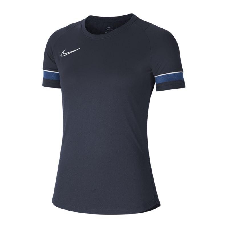 Nike Academy 21 T-Shirt Damen Blau Weiss F453 - blau