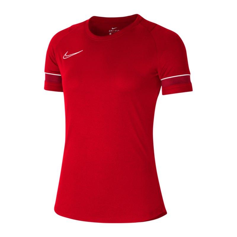 Nike Academy 21 T-Shirt Damen Rot Weiss F657 - rot