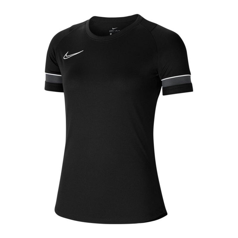 Nike Academy 21 T-Shirt Damen Schwarz F014 - schwarz