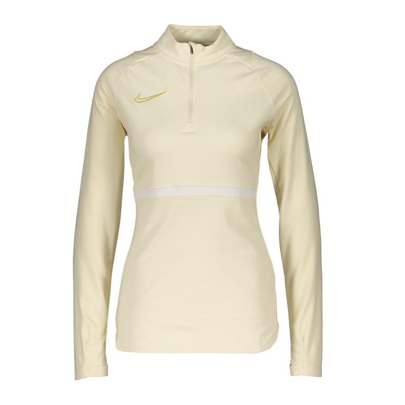 Nike Academy 21 Drill Top Damen Beige Weiss F113 - beige