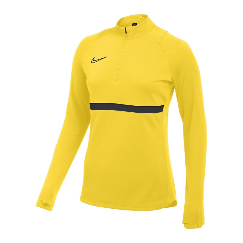 Nike Academy 21 Drill Top Damen Gelb Schwarz F719 - gelb