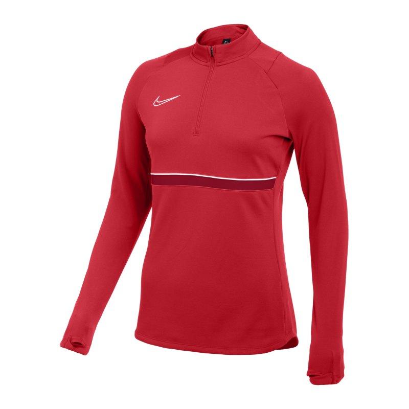 Nike Academy 21 Drill Top Damen Rot Weiss F657 - rot