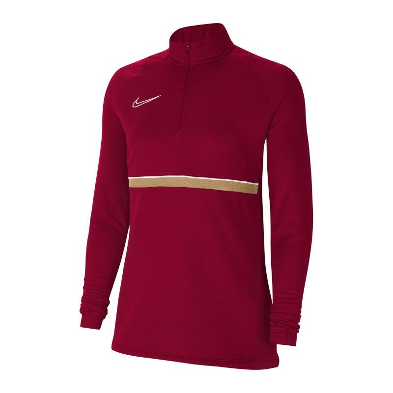 Nike Academy 21 Drill Top Damen Rot Weiss F677 - rot