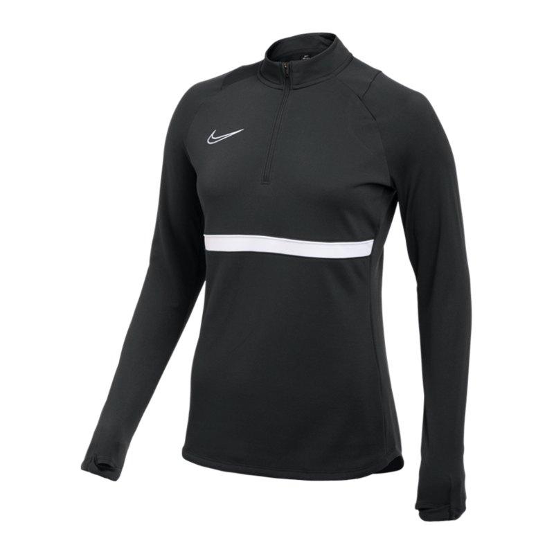 Nike Academy 21 Drill Top Damen Schwarz F010 - schwarz