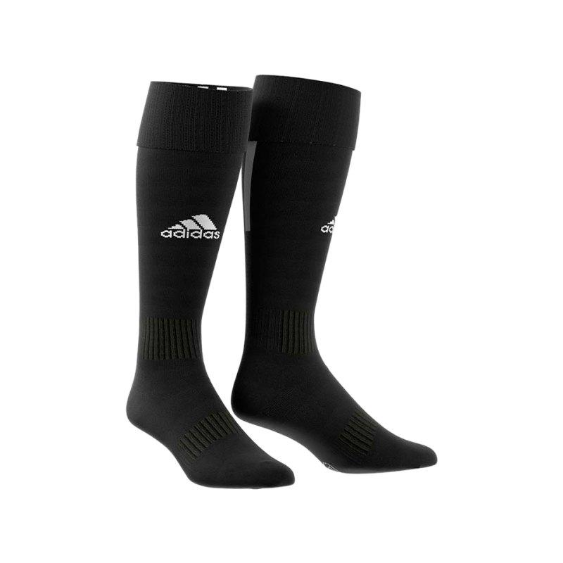 adidas Santos 18 Stutzenstrumpf Schwarz Weiss - schwarz