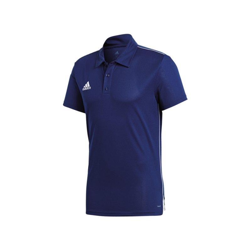 adidas Core 18 ClimaLite Poloshirt Dunkelblau - blau