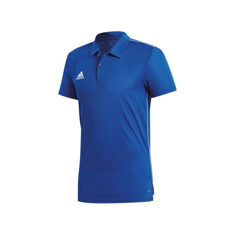 adidas Core 18 ClimaLite Poloshirt Blau Weiss - blau