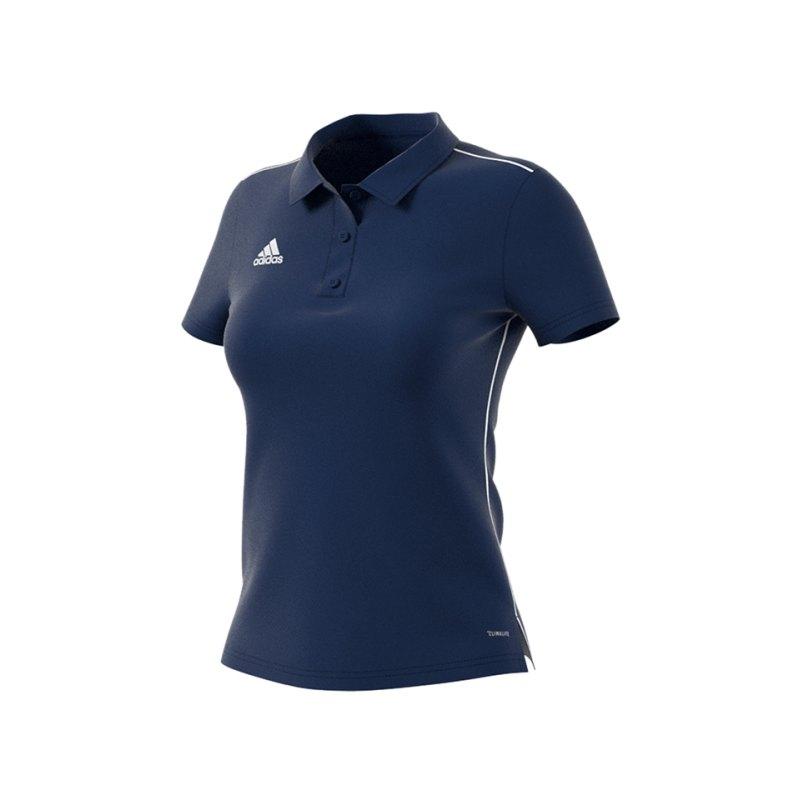 adidas Core 18 Poloshirt Damen Blau Weiss - blau