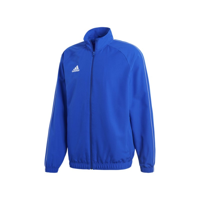 adidas Core 18 Präsentationsjacke Blau Weiss - blau