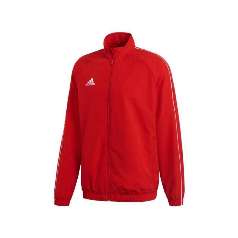 adidas Core 18 Präsentationsjacke Rot Weiss - rot