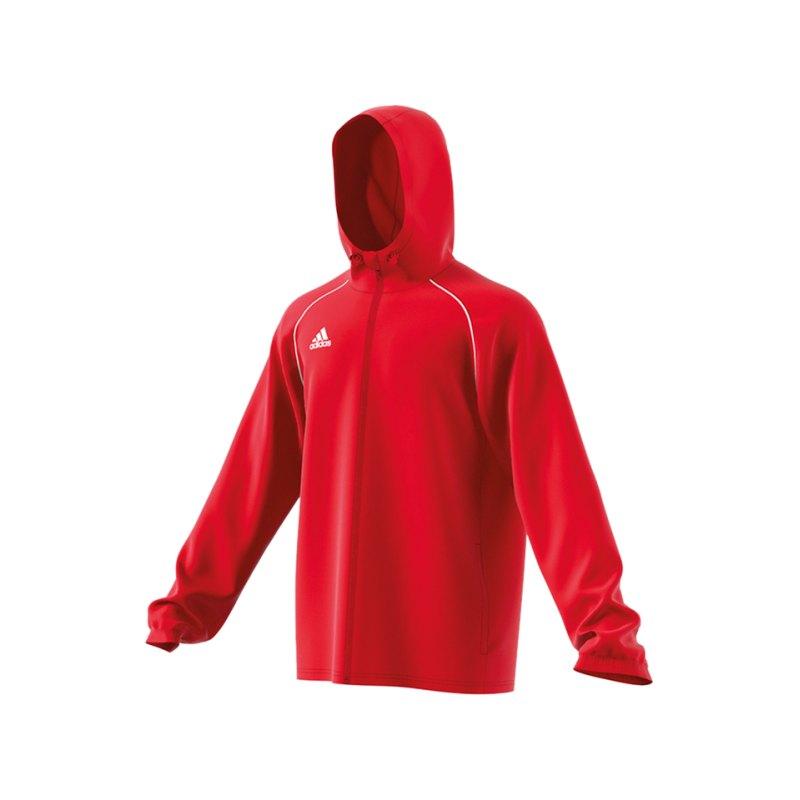 adidas Core 18 Rain Jacket Jacke Rot Weiss