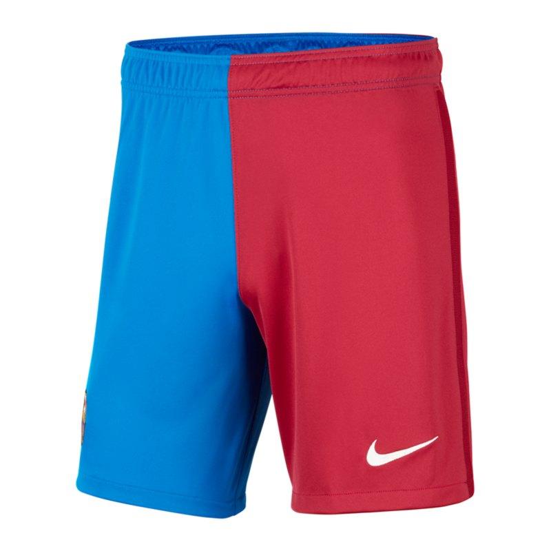 Nike FC Barcelona Short Home 2021/2022 Kids F427 - blau