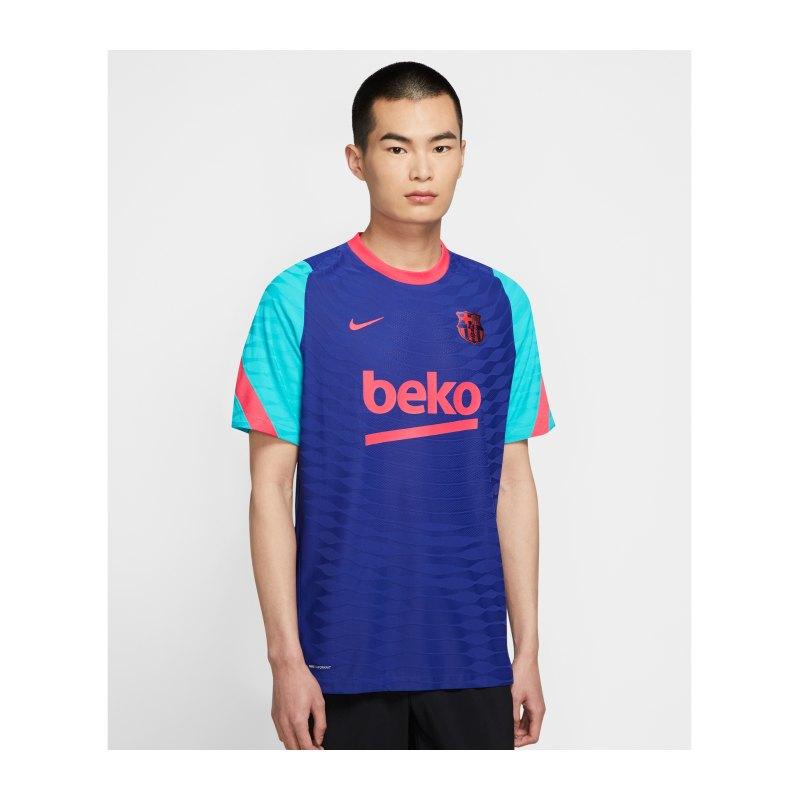 Nike FC Barcelona Vaporknit Strike T-Shirt Blau F456 - blau