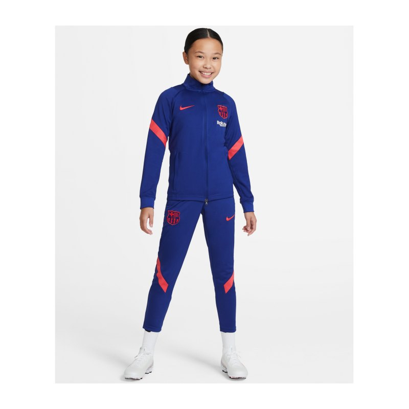 Nike FC Barcelona Trainingsanzug Kids Blau F456 - blau