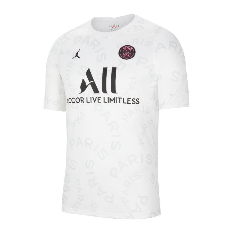 Jordan Paris St. Germain Prematch Shirt 2020/2021 Kids Weiss F101 - weiss