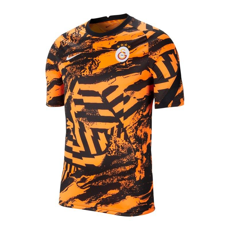 Nike Galatasaray Istanbul Prematch Shirt 2021/2022 Orange F804 - orange