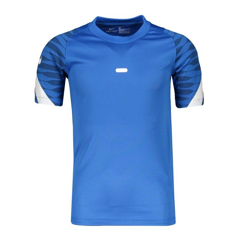 Nike Strike 21 T-Shirt Kids Blau Weiss F463 - blau