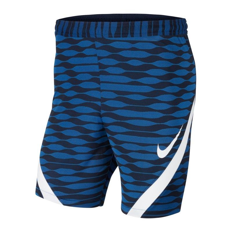 Nike Strike 21 Knit Short Blau Weiss F451 - blau