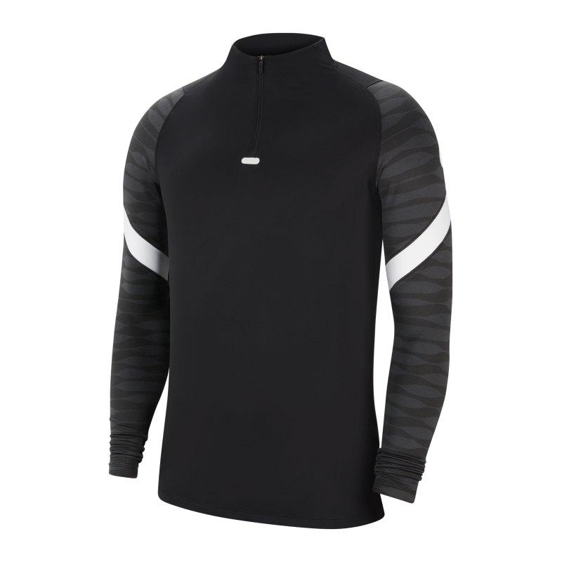 Nike Strike 21 Drill Top Schwarz Grau F010 - schwarz