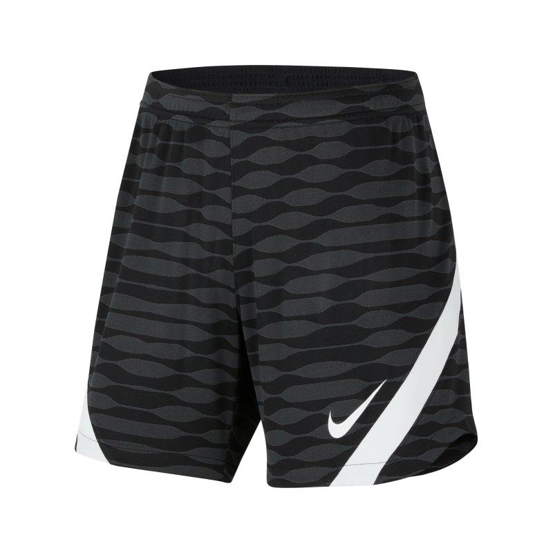 Nike Strike 21 Knit Short Damen Schwarz Weiss F010 - schwarz