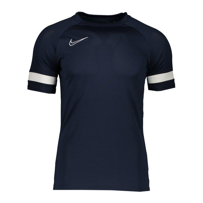 Nike Academy 21 T-Shirt Blau Weiss F451 - blau