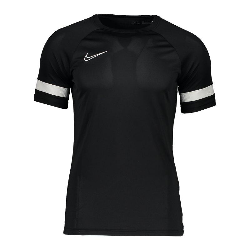 Nike Academy 21 T-Shirt Schwarz Weiss F010 - schwarz