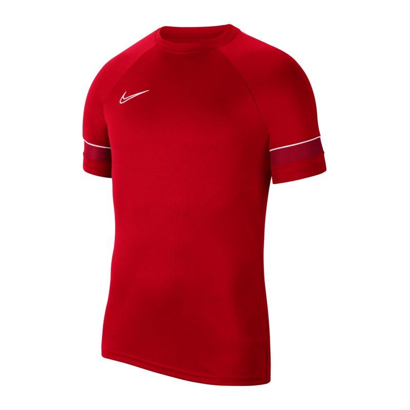 Nike Academy 21 T-Shirt Kids Rot Weiss F657 - rot