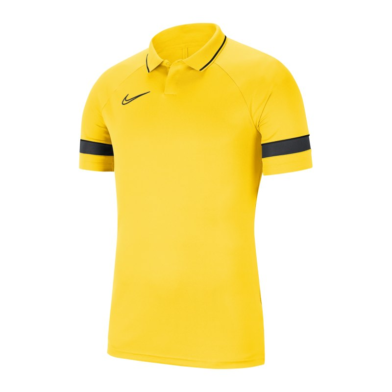 Nike Academy 21 Poloshirt Gelb Schwarz F719 - gelb