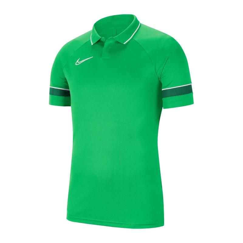 Nike Academy 21 Poloshirt Grün Weiss F362 - gruen