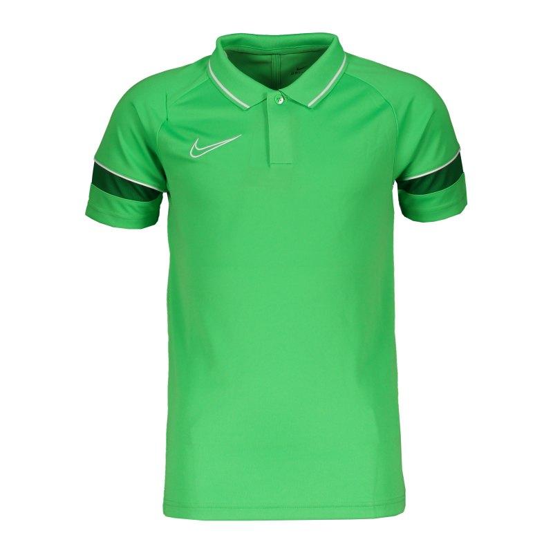 Nike Academy 21 Poloshirt Kids Grün Weiss F362 - gruen