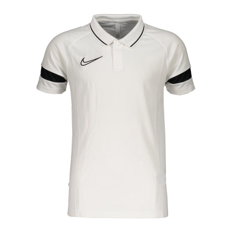 Nike Academy 21 Poloshirt Kids Weiss Schwarz F100 - weiss