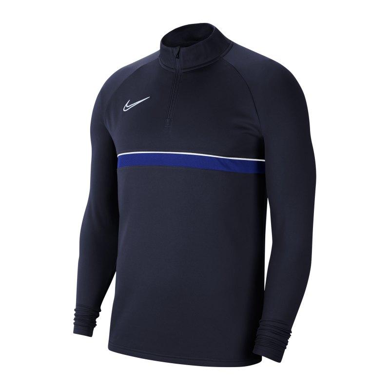 Nike Academy 21 Drill Top Blau Weiss F453 - blau
