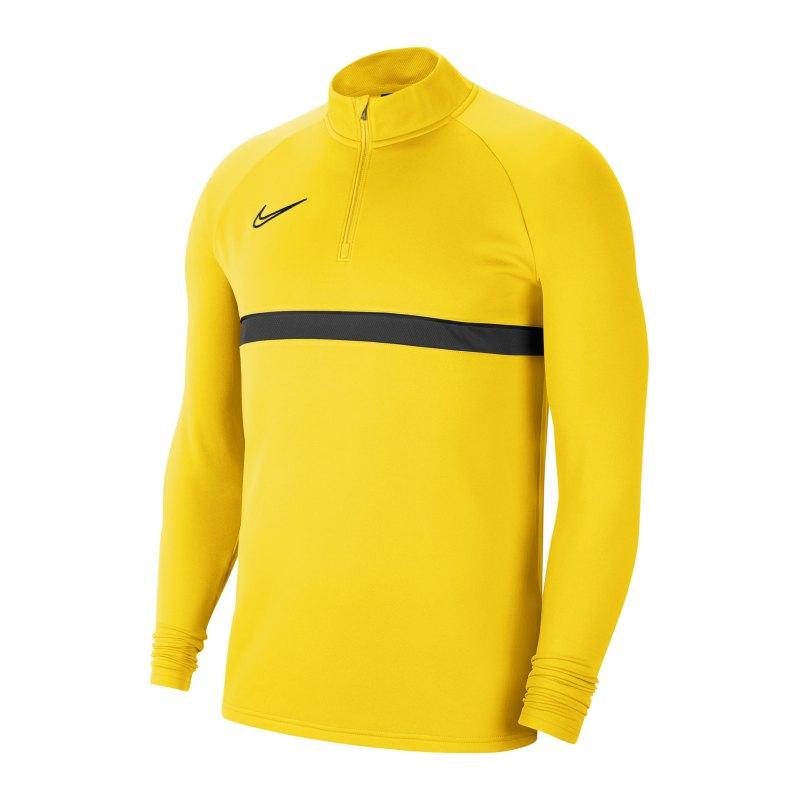 Nike Academy 21 Drill Top Gelb Schwarz F719 - gelb