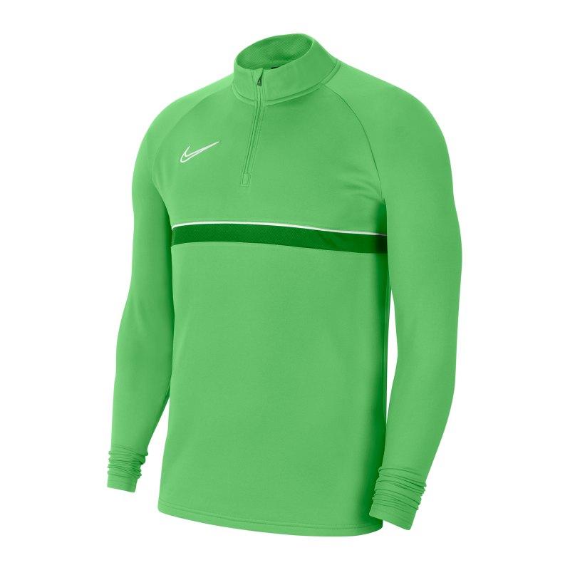 Nike Academy 21 Drill Top Grün Weiss F362 - gruen