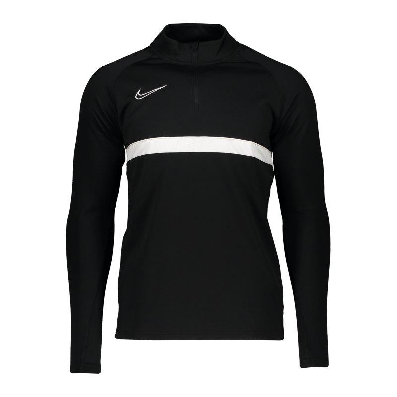 Nike Academy 21 Drill Top Schwarz F010 - schwarz