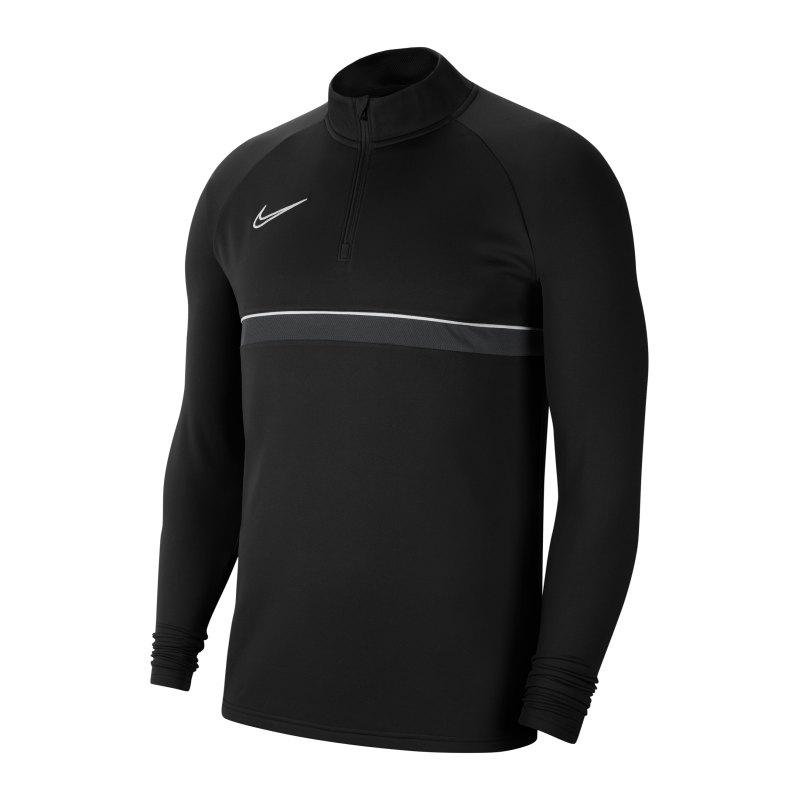 Nike Academy 21 Drill Top Schwarz Weiss F014 - schwarz