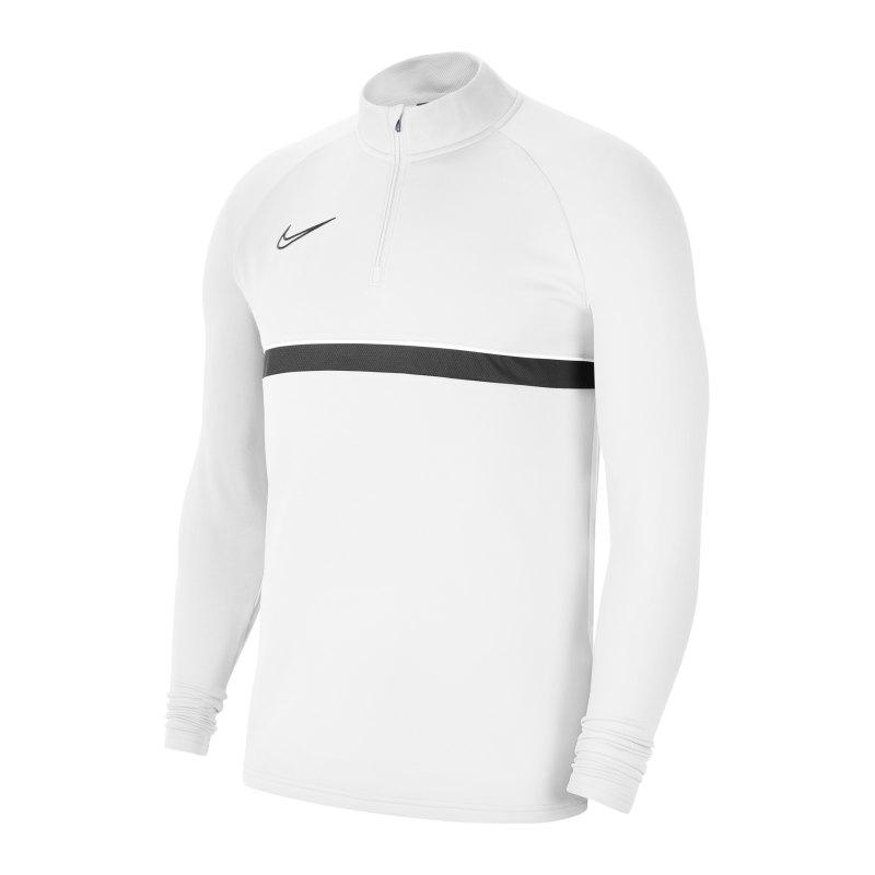 Nike Academy 21 Drill Top Weiss Schwarz F100 - weiss