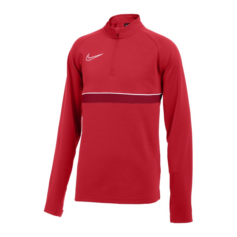 Nike Academy 21 Drill Top Kids Rot Weiss F657 - rot