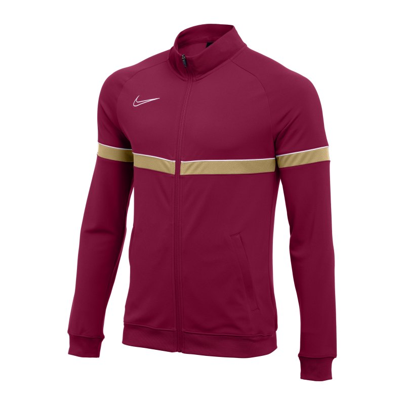 Nike Academy 21 Knit Trainingsjacke Rot Weiss F677 - rot