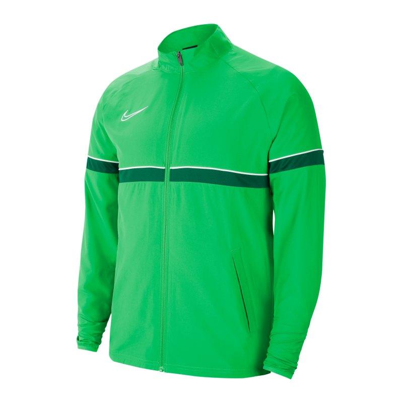 Nike Academy 21 Woven Trainingsjacke Grün F362 - gruen