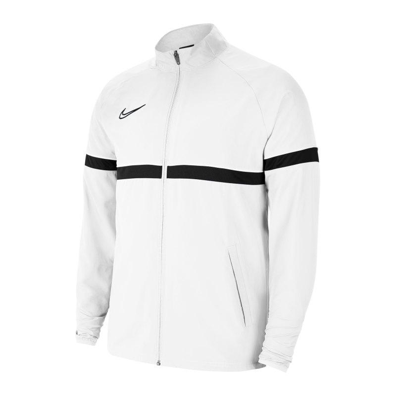 Nike Academy 21 Woven Trainingsjacke Weiss F100 - weiss