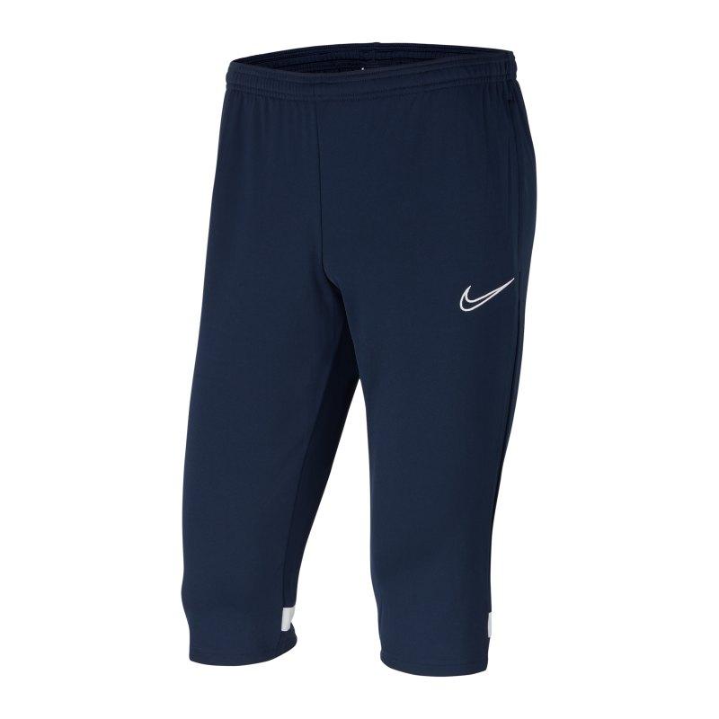 Nike Academy 21 3/4 Hose Blau Weiss F451 - blau