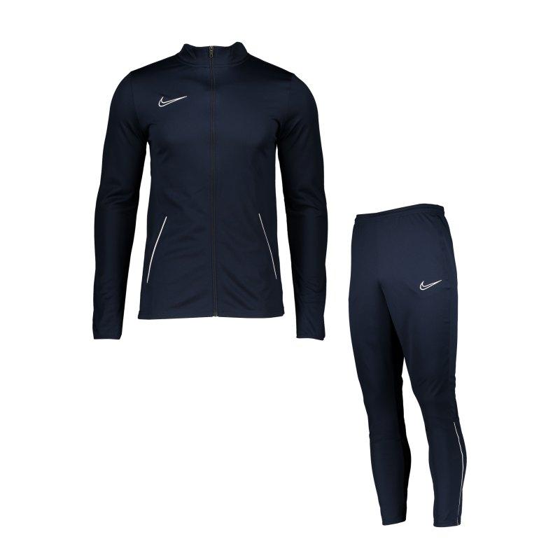 Nike Academy 21 Trainingsanzug Blau Weiss F451 - blau