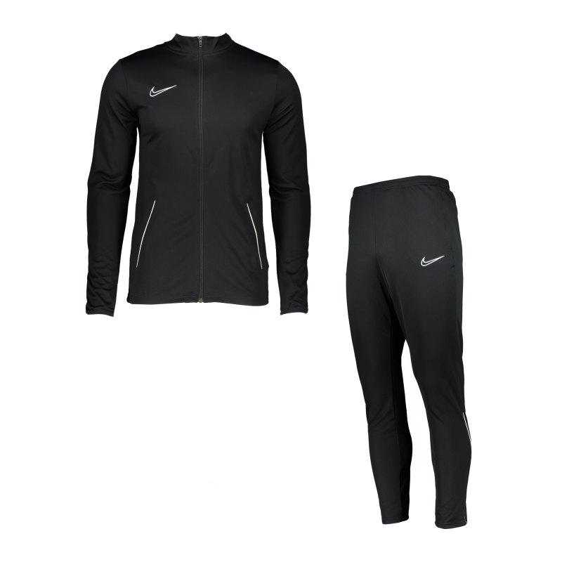 Nike Academy 21 Trainingsanzug Schwarz Weiss F010 - schwarz
