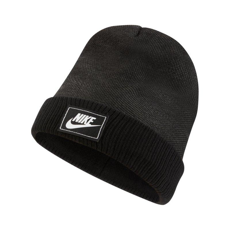 Nike Cuffed Futura Beanie Schwarz F010 - schwarz