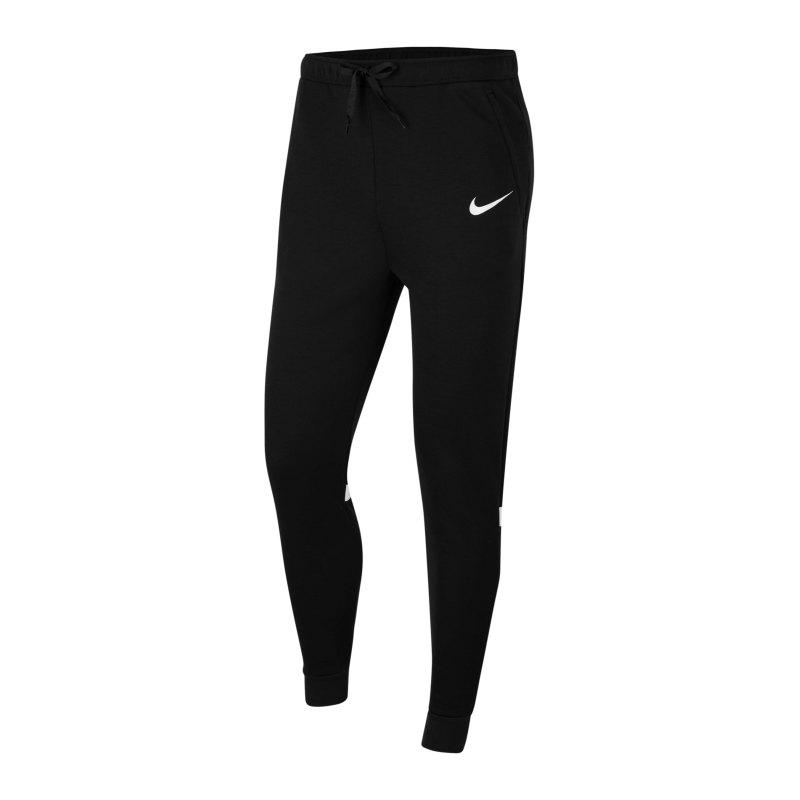 Nike Strike 21 Fleece Trainingshose Schwarz F010 - schwarz