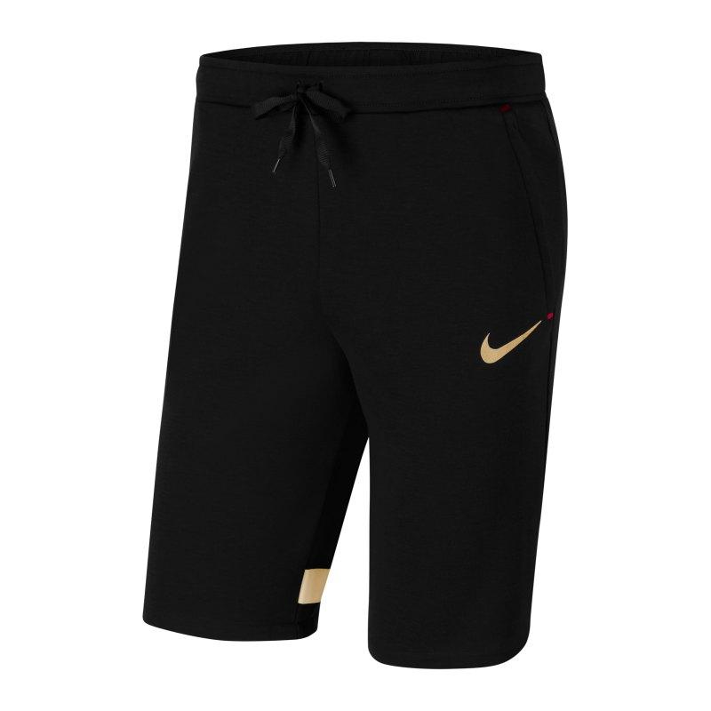 Nike Dri-Fit Strike 21 Short Schwarz Gold F013 - schwarz