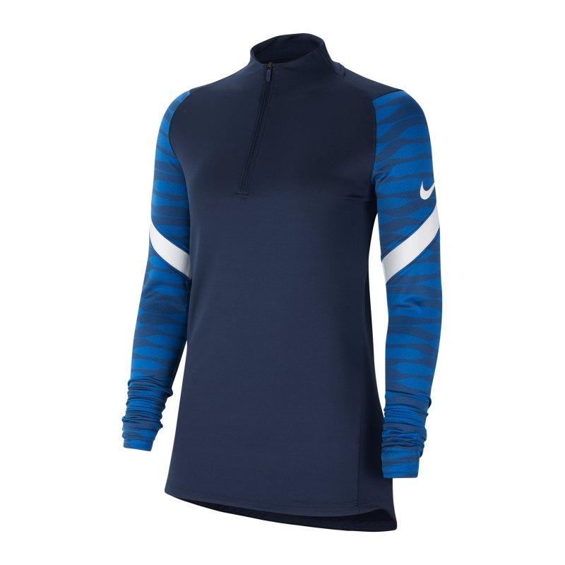 Nike Strike 21 Drill Top Damen Blau Weiss F451 - blau