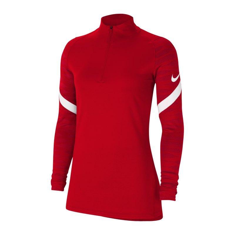 Nike Strike 21 Drill Top Damen Rot Weiss F657 - rot