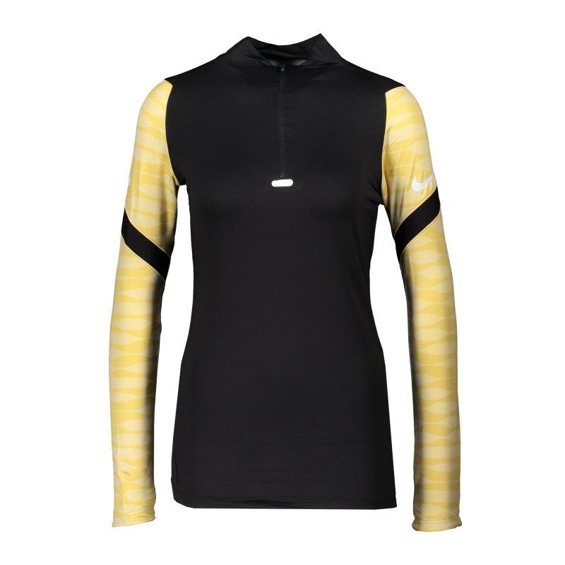 Nike Strike 21 Drill Top Damen Schwarz Gold F011 - schwarz